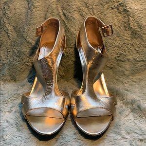 Nine West Gold Leather  Heels
